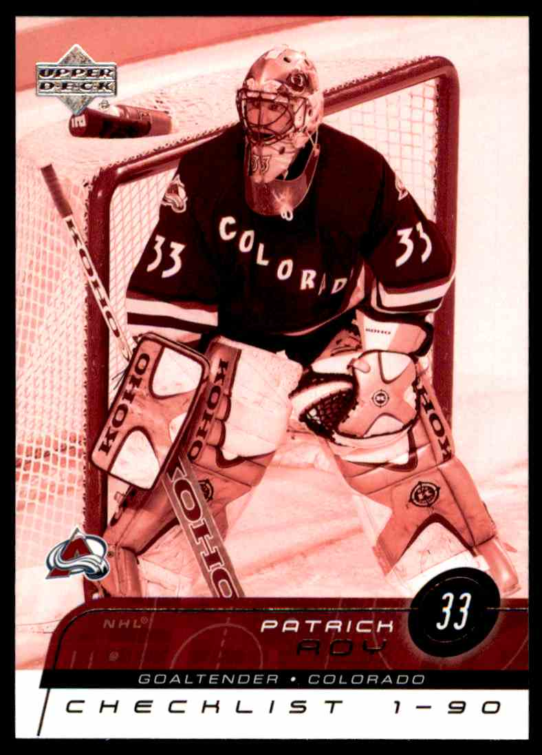 2002-03 Upper Deck Patrick Roy #179 card front image