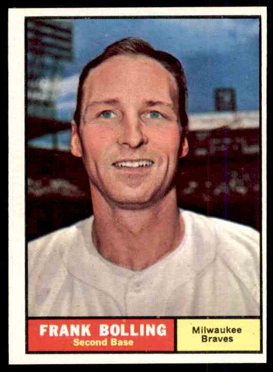 1961 Topps Frank Boling #335 card front image