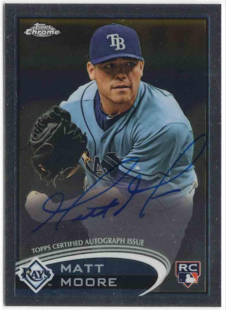 2012 Topps Chrome Rookie Autographs Matt Moore #160 card front image