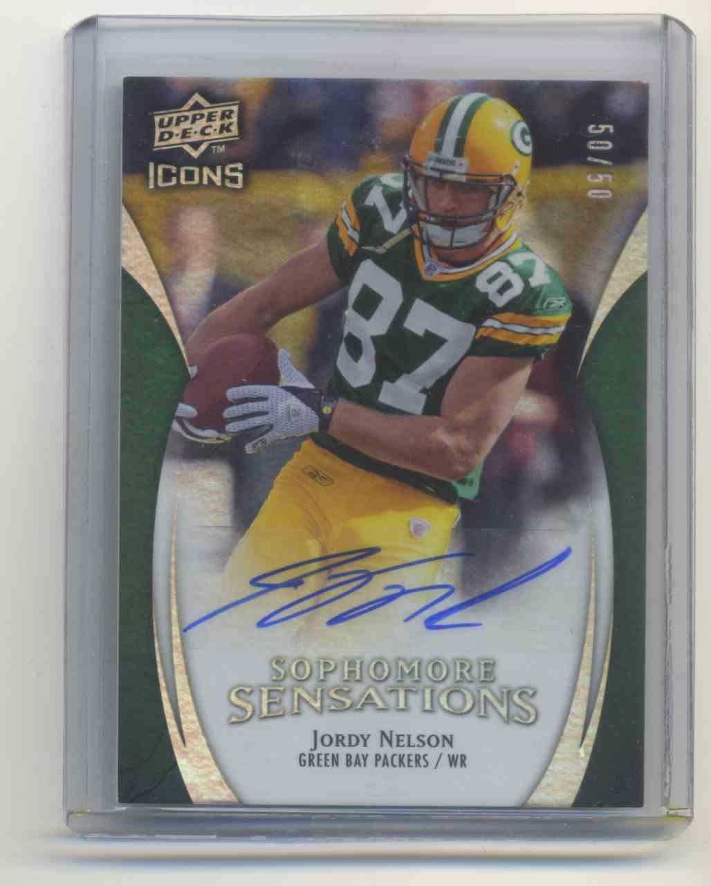 2009 Upper Deck Icons Sophomore Sensations Autographs Jordy Nelson #SS-JN card front image
