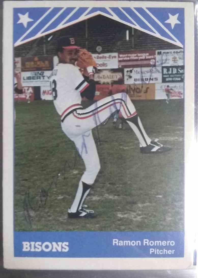 1983 TCMA Ramon Romero #9 card front image