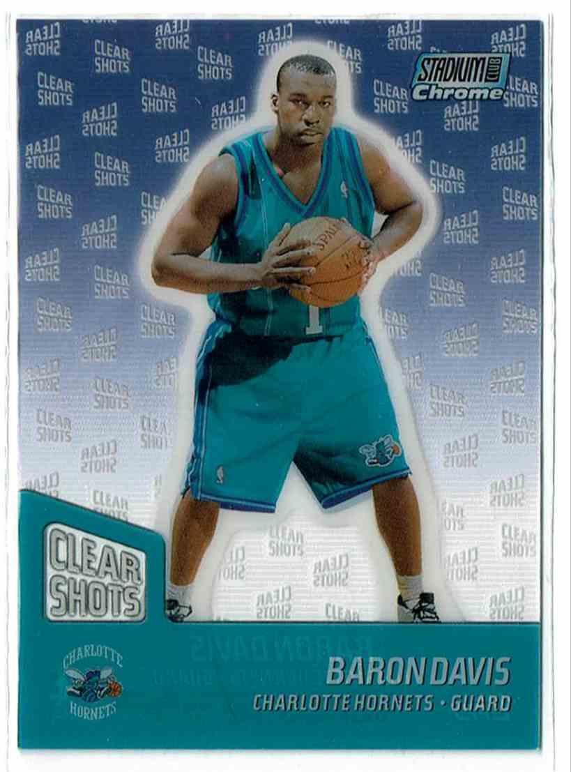 7f6aeb06dff 1999-00 Topps Stadium Club Chrome Clear Shots Baron Davis #CS9 card front  image