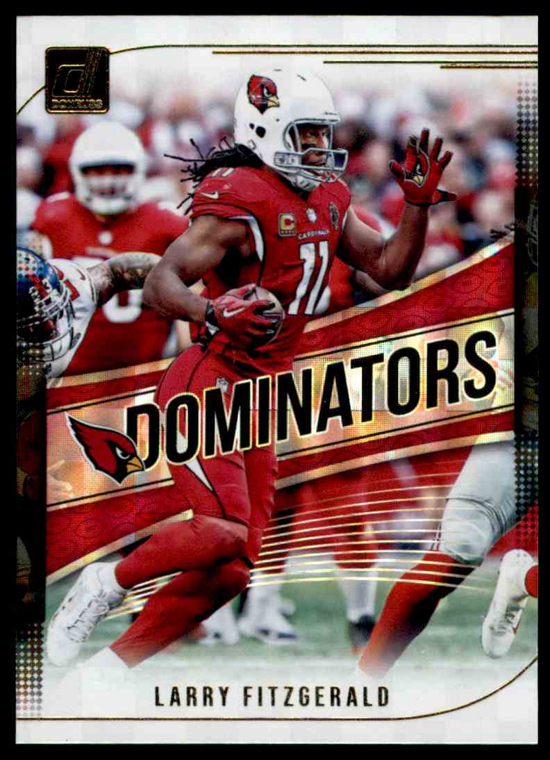 2018 Donruss Dominators Larry Fitzgerald #D-19 card front image