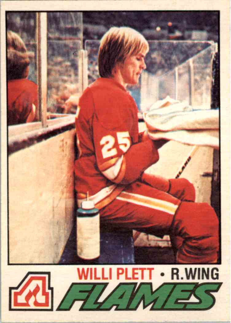 1977-78 O-Pee-Chee Willi Plett #17 card front image