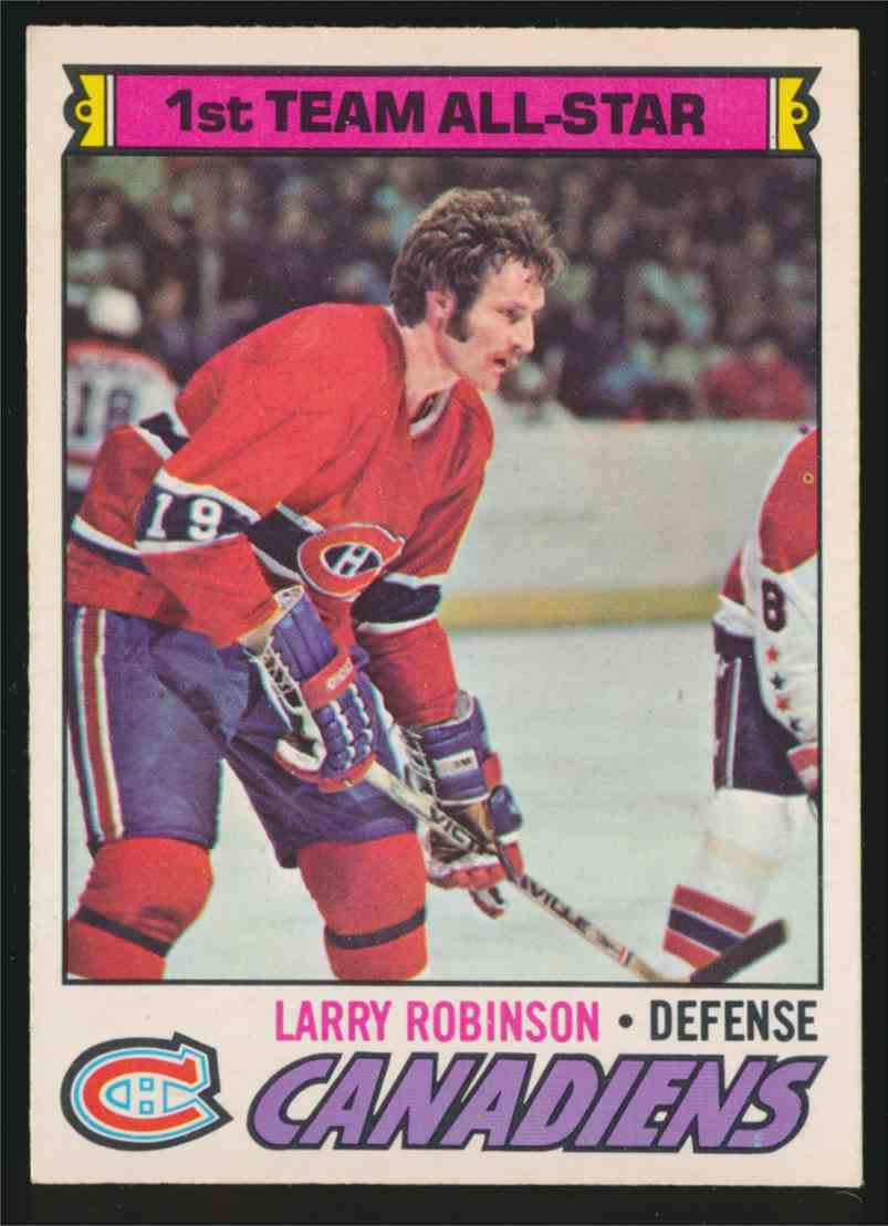 1977-78 O-Pee-Chee Larry Robinson #30 card front image