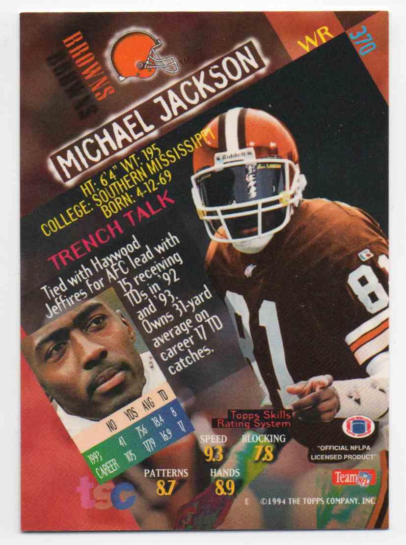 1994 Stadium Club Michael Jackson 370 On Kronozio