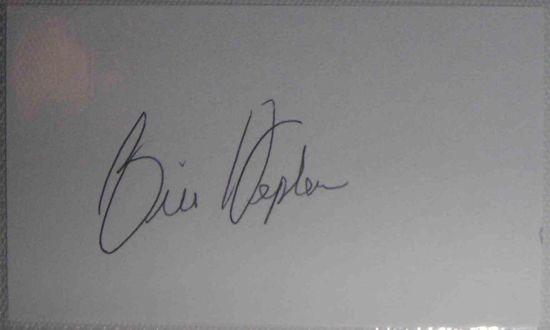 1966 3X5 Bill Hepler card front image