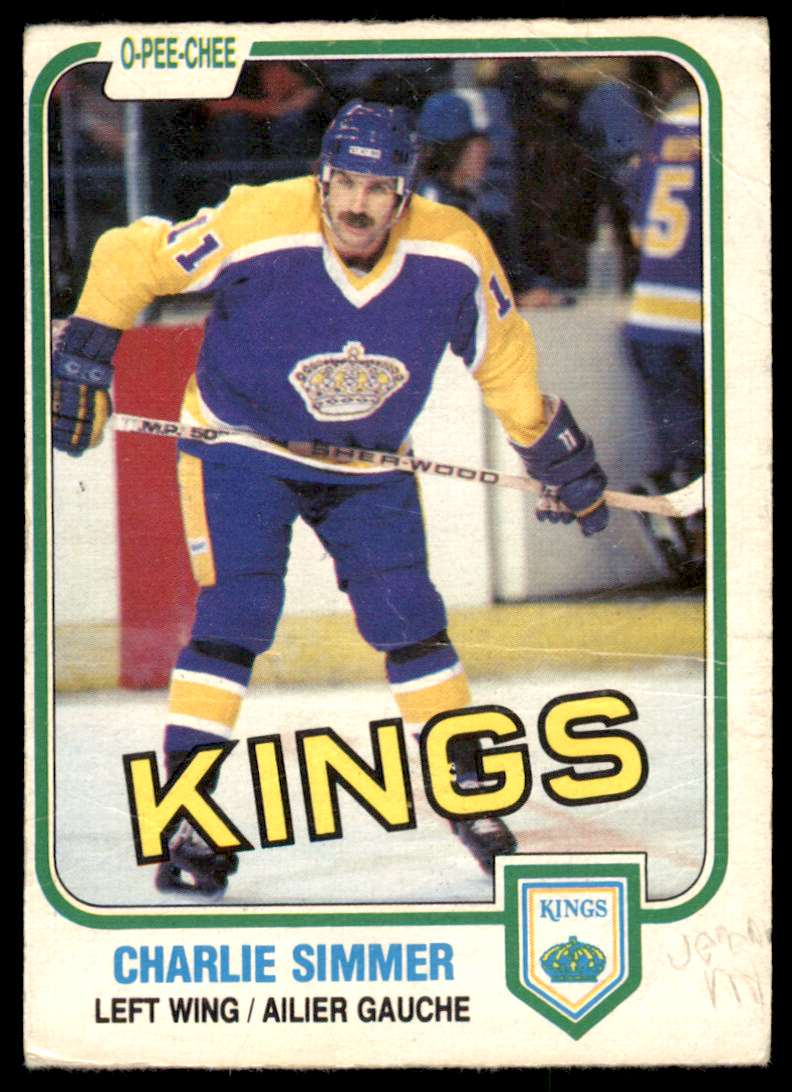 1981-82 OPC Charlie Simmer #142 card front image