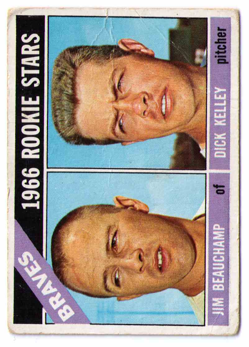 1966 Topps Jim Beauchamp Dick Kelley #84 card front image