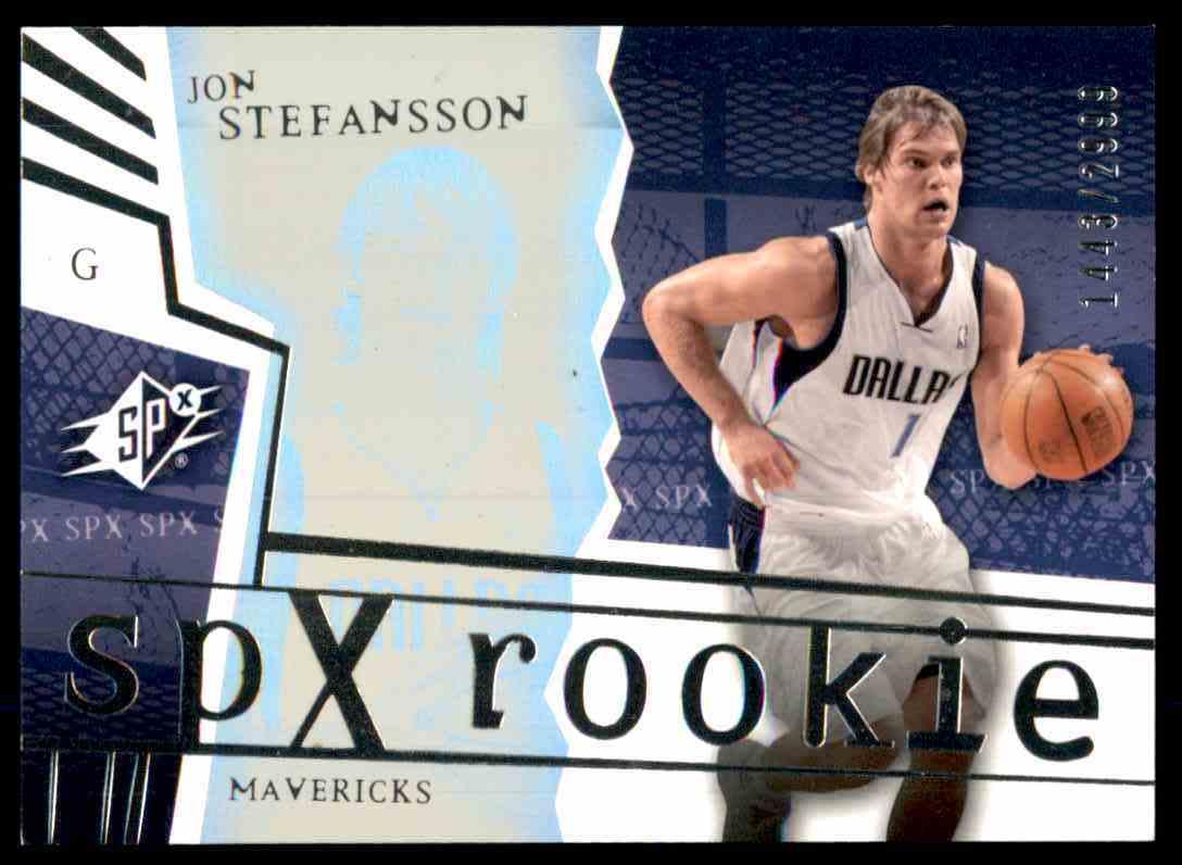 2003-04 SPx Jon Stefansson RC #137 card front image