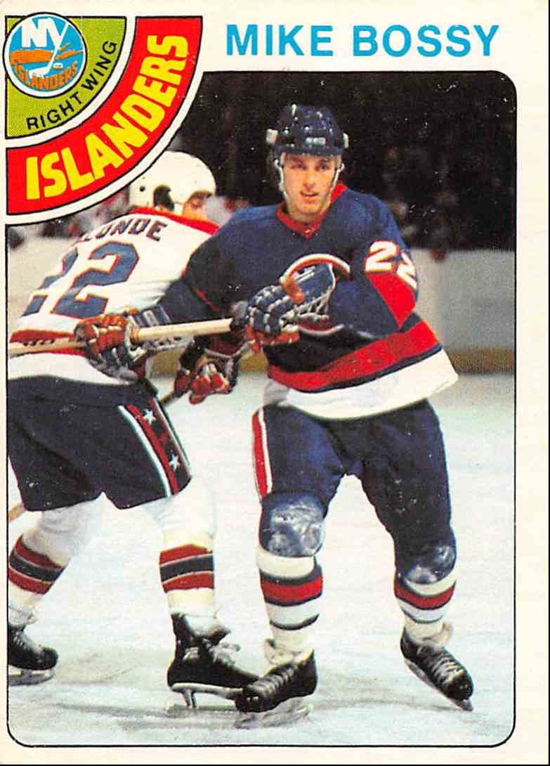 1978-79 O-Pee-Chee Mike Bossy #115 card front image