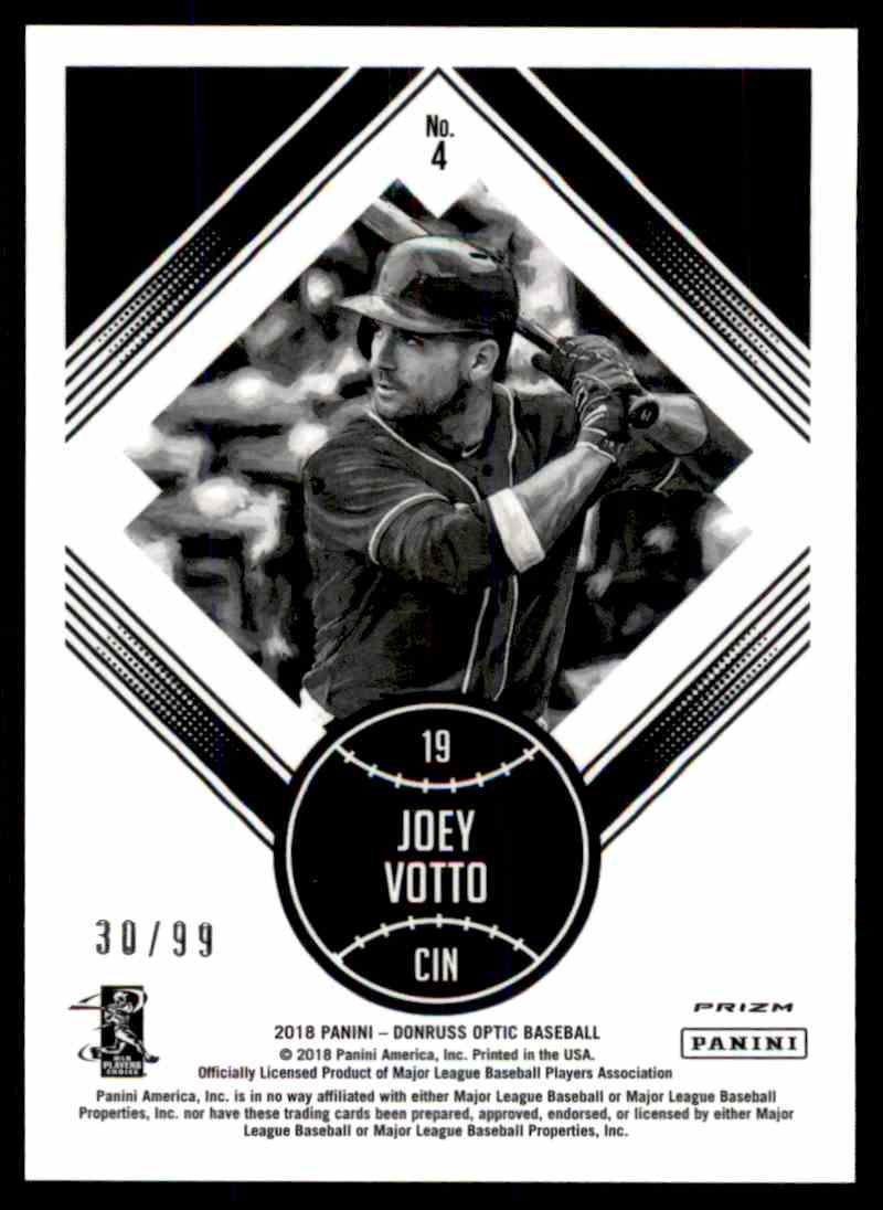 2018 Donruss Optic Red Prizm Diamond Kings Joey Votto #4 card back image