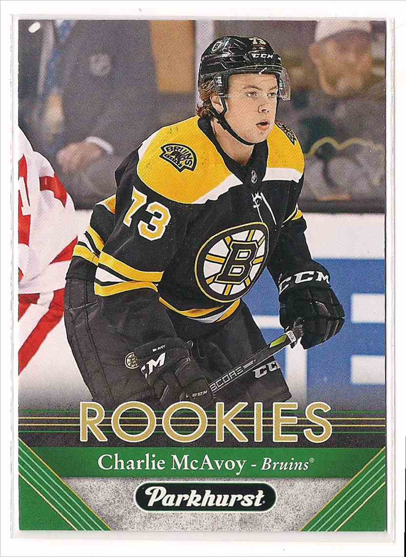 2017-18 Parkhurst Rookies Charlie McAvoy #274 card front image