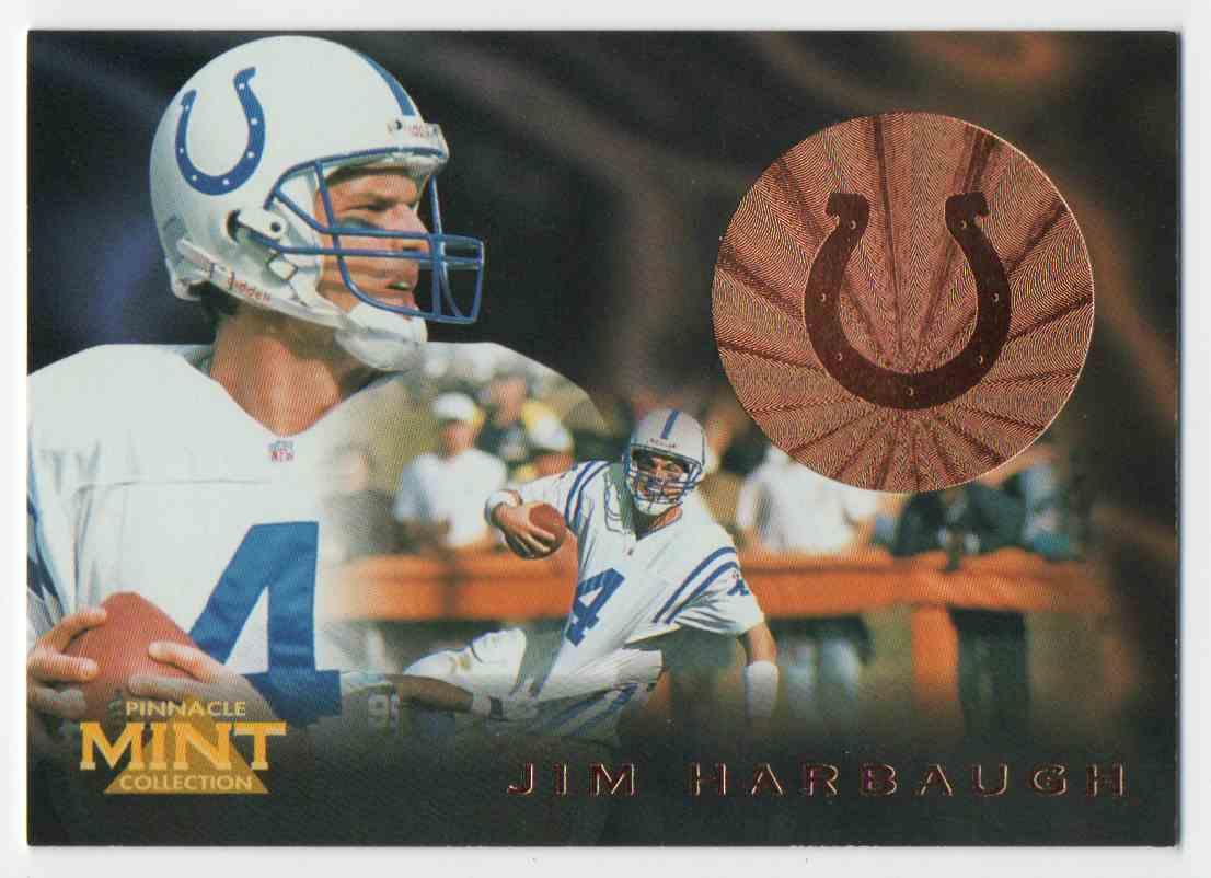 1996 Pinnacle Mint Bronze Jim Harbaugh #10 card front image
