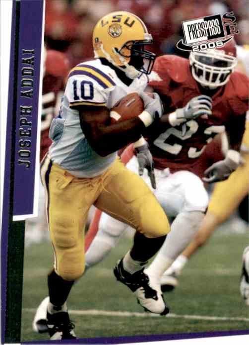 2006 Press Pass Se Joseph Addai #1 card front image