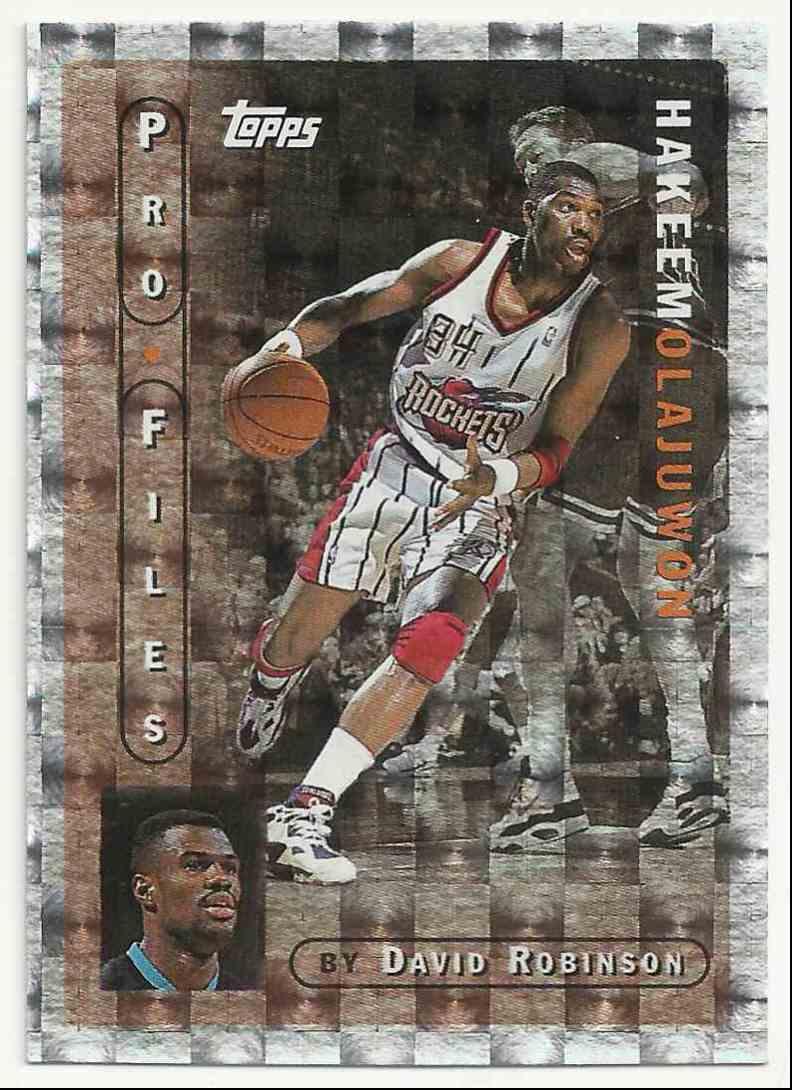 1995-96 Topps Pro Files Hakeem Olajuwon #PF-19 card front image