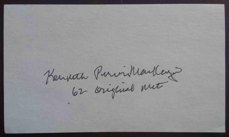 1962 3X5 Ken MacKenzie card back image