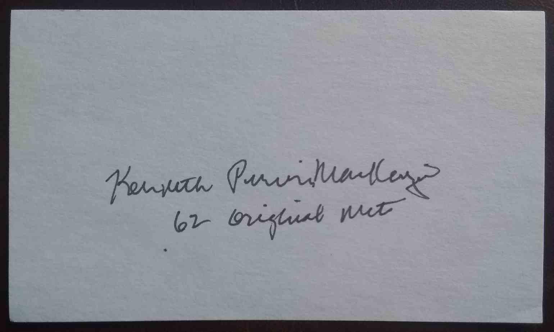1962 3X5 Ken MacKenzie card front image