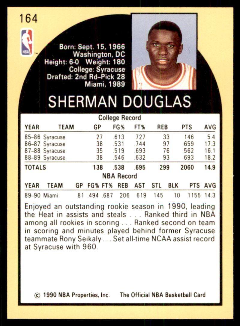 1990 91 Nba Hoops Sherman Douglas 164 on Kronozio