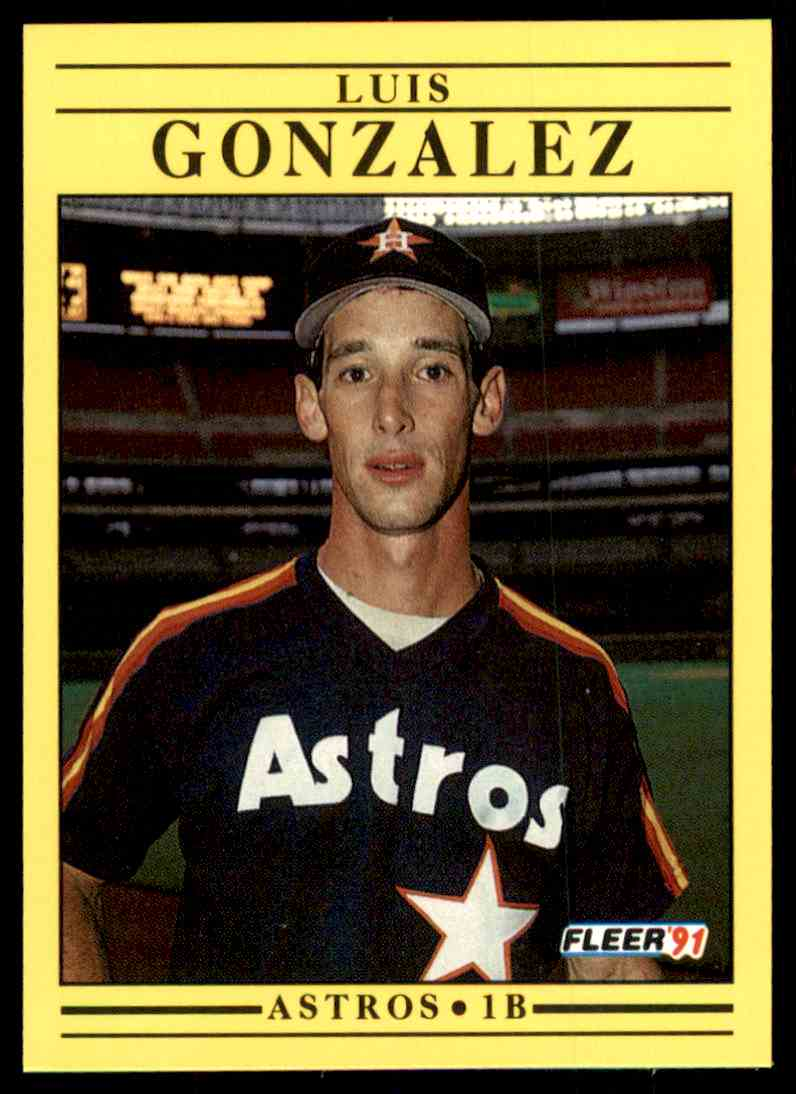 Image result for 1991 fleer luis gonzalez