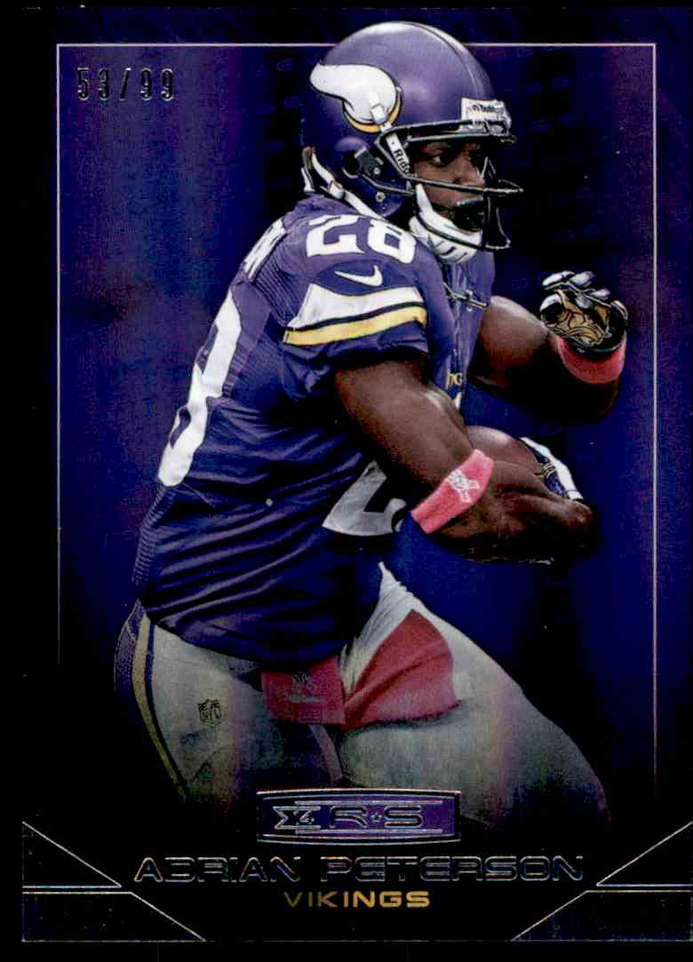 2014 Panini Rookies Amp Stars Parallel Adrian Peterson On