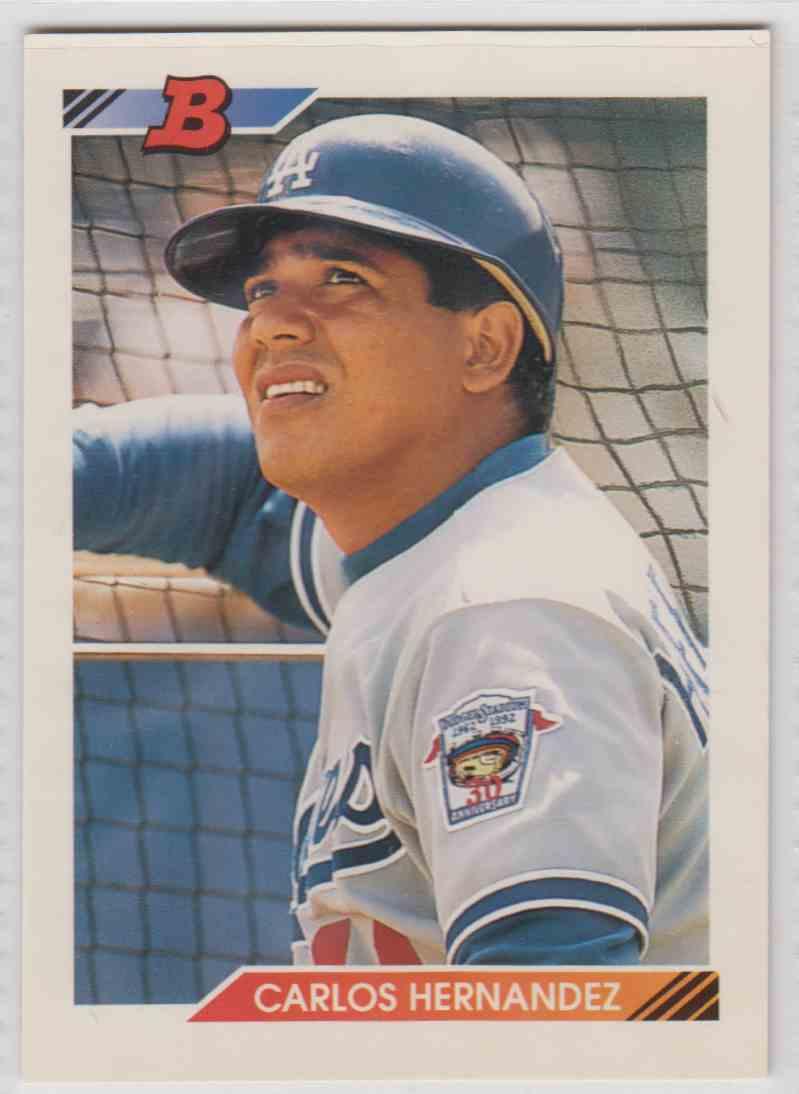 1992 Bowman Carlos Hernandez 5 On Kronozio