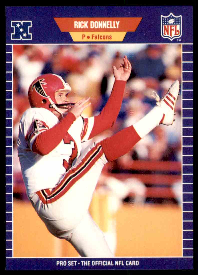 1989 NFL Pro Set Football Rick Donnelly 8 Card Front Image