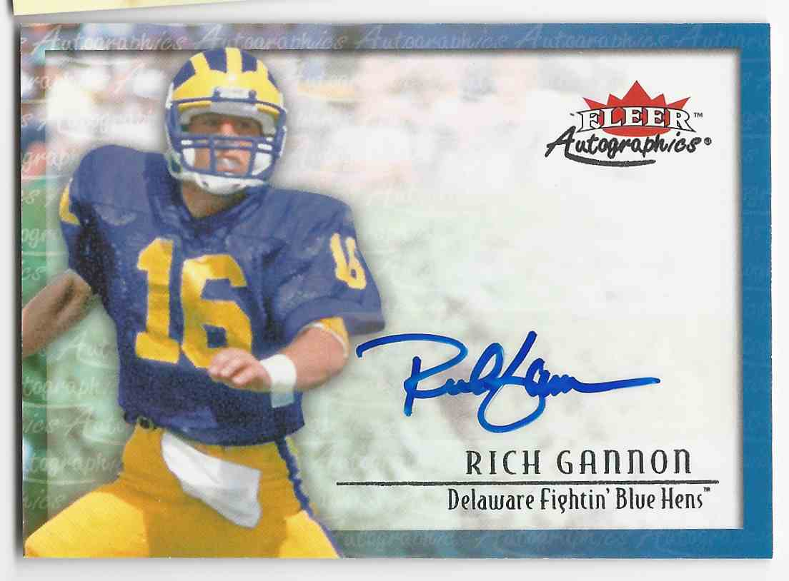 2012 Fleer Retro Autographics 2000 Rich Gannon #00AU-GA card front image
