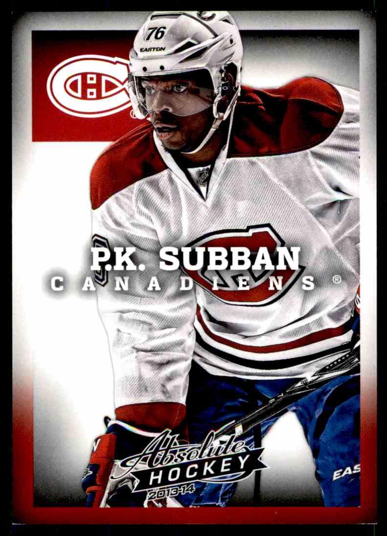 2013-14 Panini Absolute Hockey P.K. Subban #8 card front image