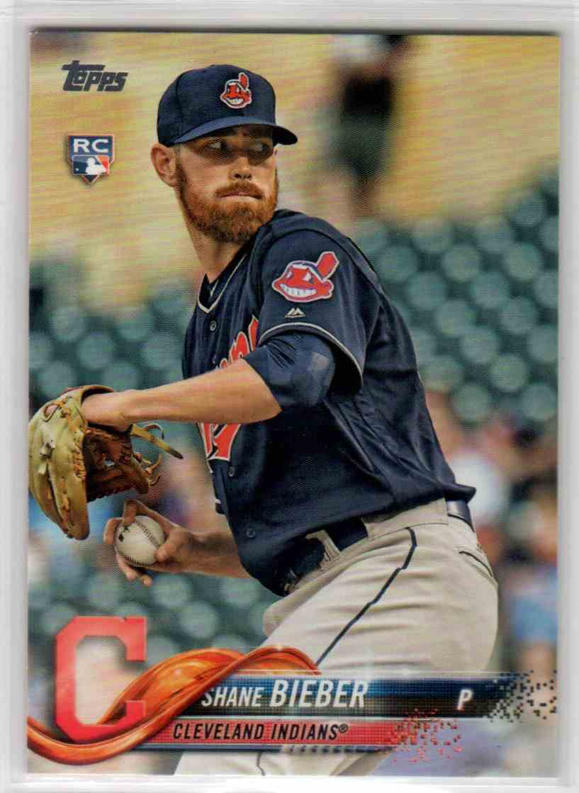 2018 Topps Update Shane Bieber #US198 card front image