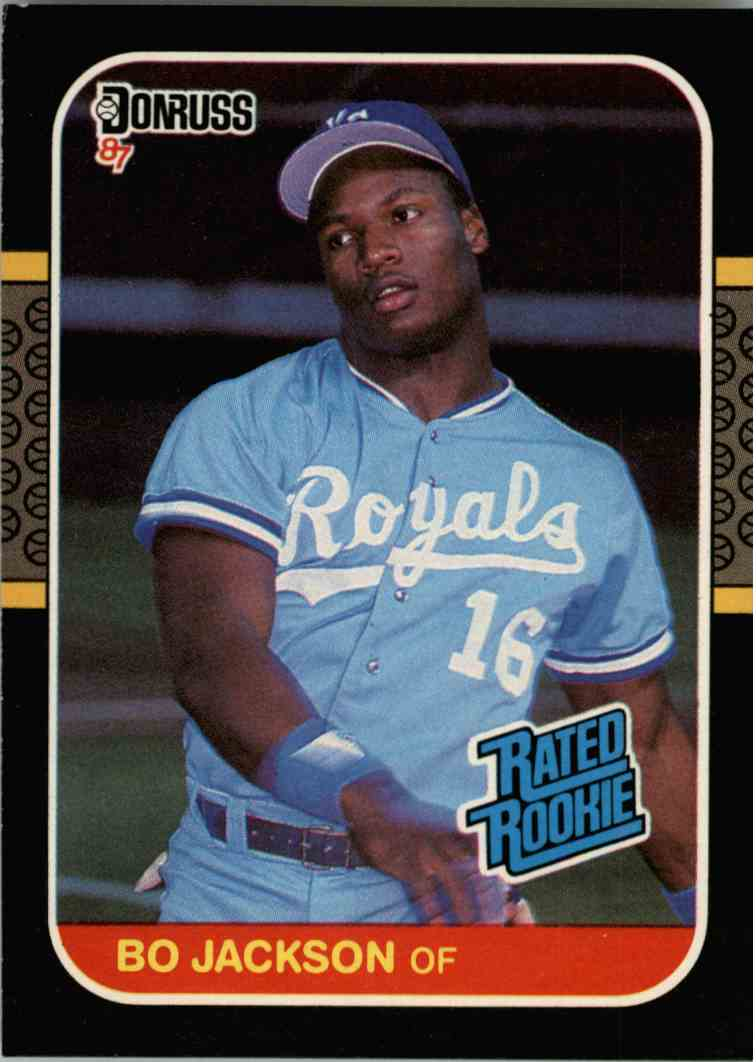 1987 Donruss Bo Jackson 35 On Kronozio