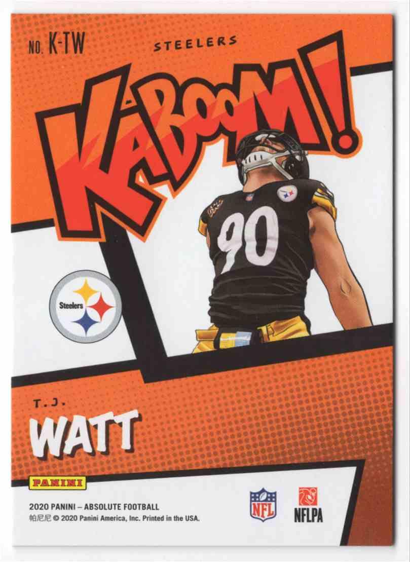 2020 Absolute Kaboom T.J. Watt #21 card back image
