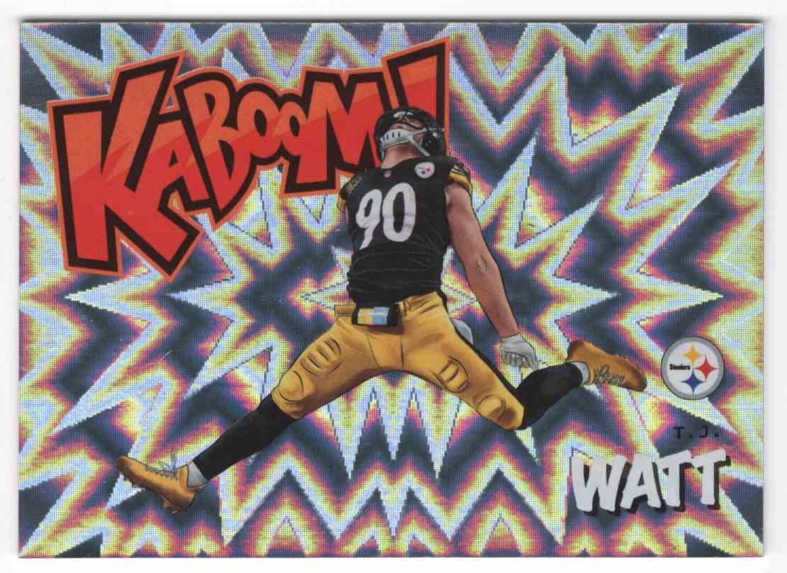 2020 Absolute Kaboom T.J. Watt #21 card front image