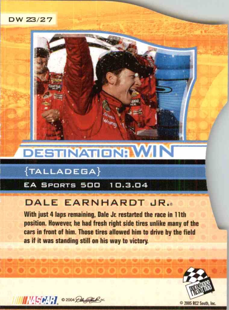 2005 Press Pass Eclipse Dale Earnhardt JR. #DW23 card back image