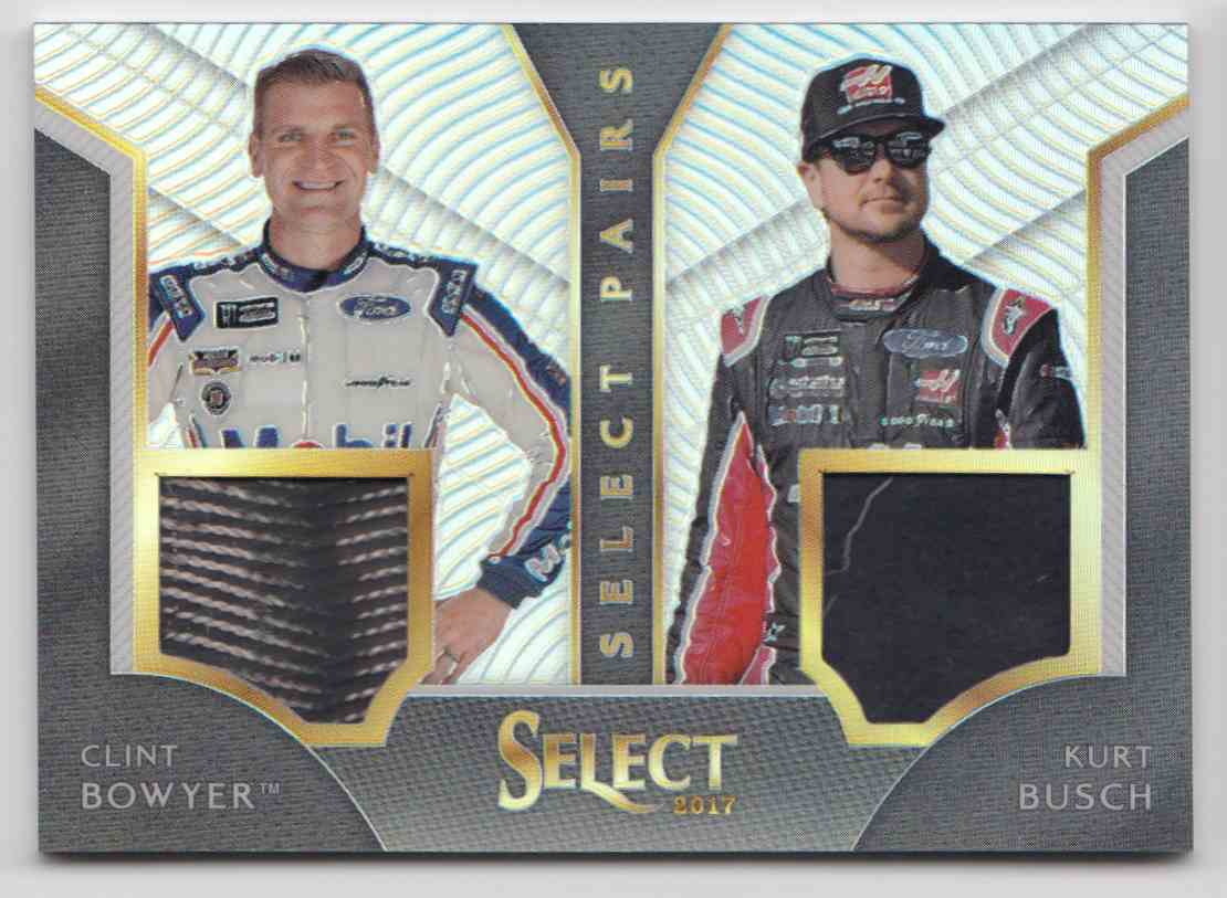 2017 Panini Select Pairs Prizm Clint Bowyer Kurt Busch #CB-KB card front image