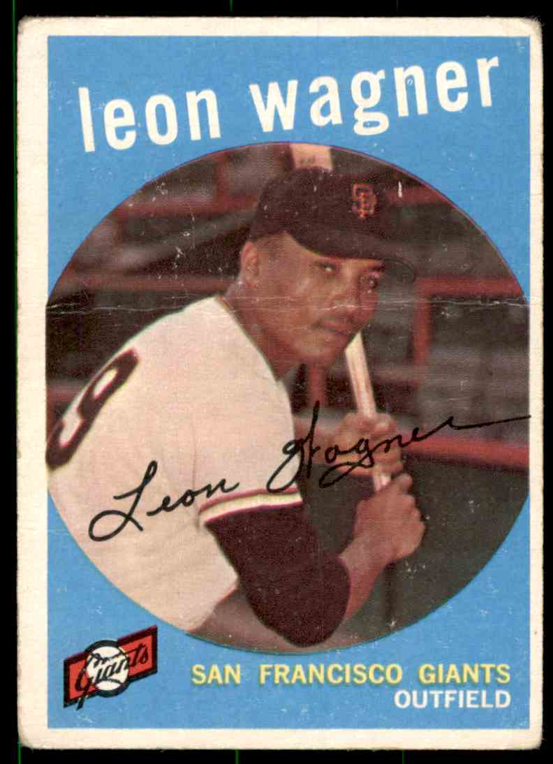 1959 Topps Leon Wagner RC #257 card front image