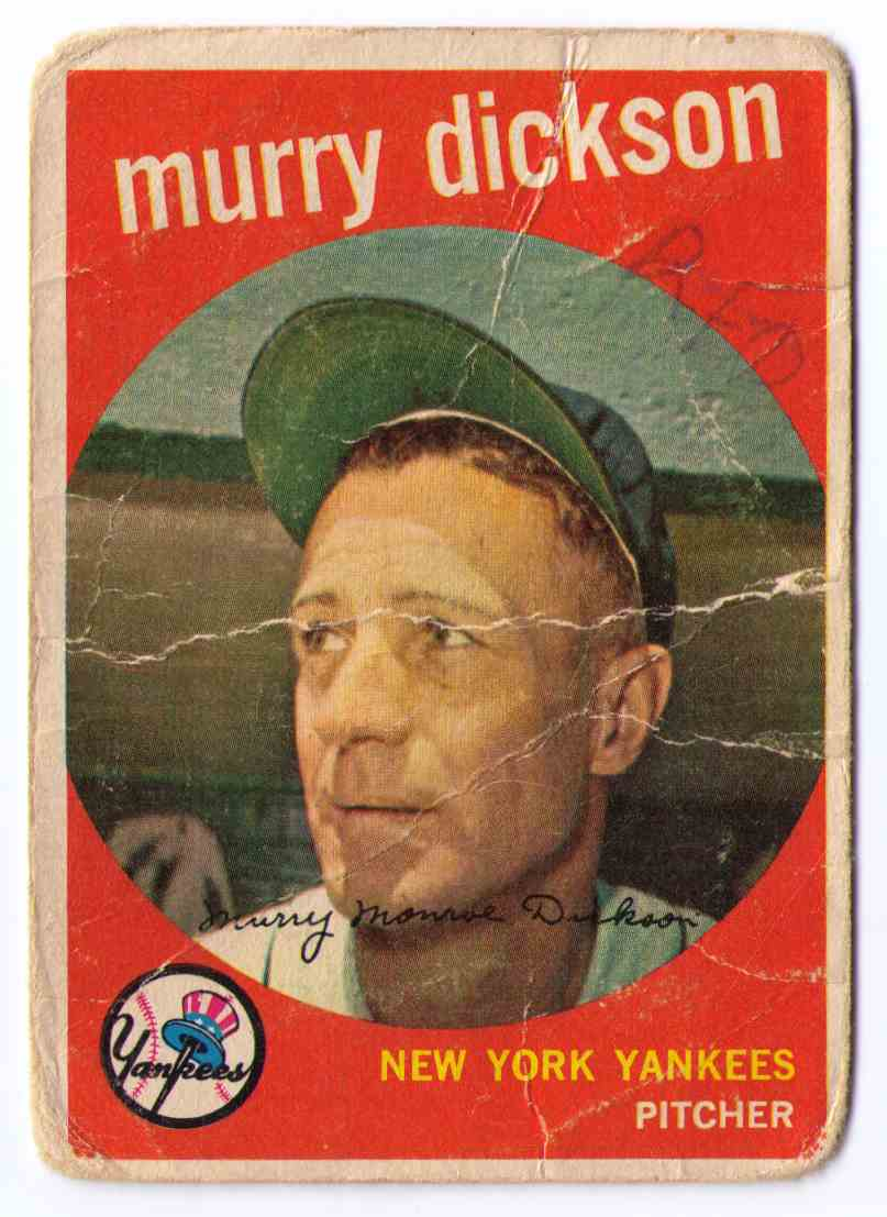 1959 Topps Baseball Card Murry Dickson #23 card front image