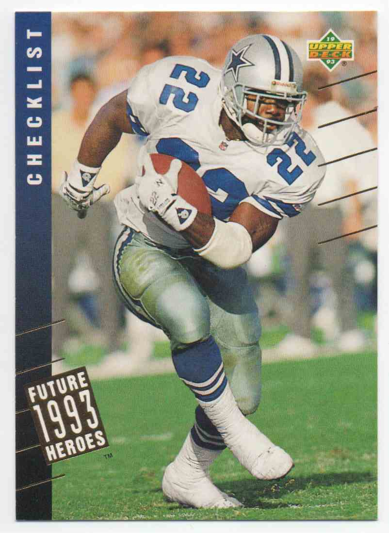 1993 Upper Deck Future Heroes Emmitt Smith #45 card front image