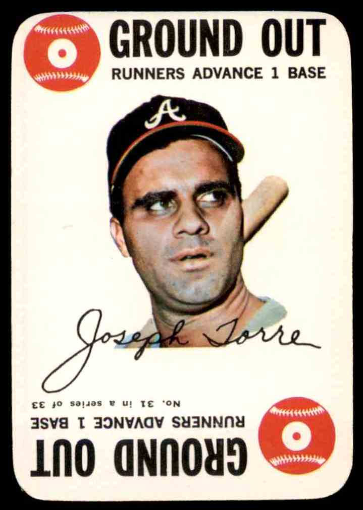 1968 Topps Game Joe Torre #31 card front image