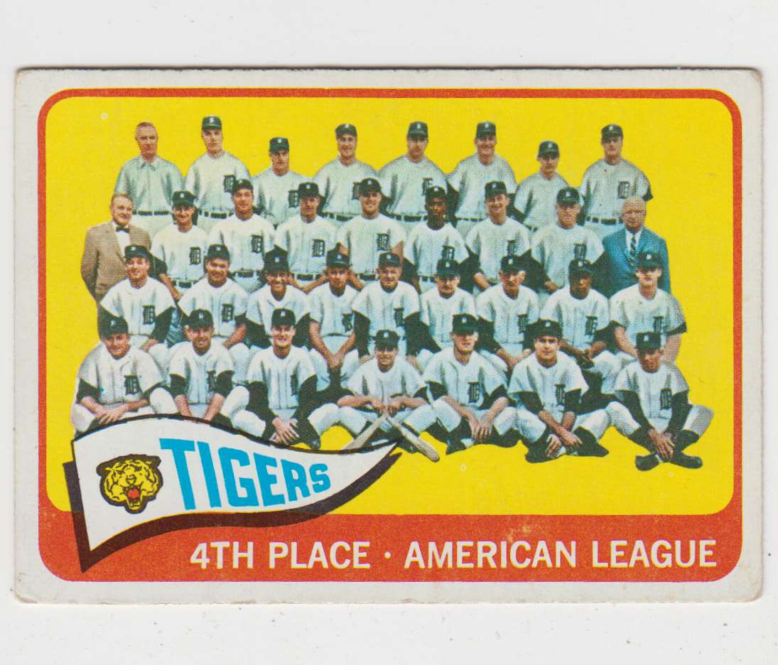 1965 O-Pee-Chee Detroit Tigers #173 card front image