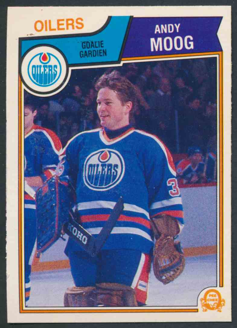 1983-84 O-Pee-Chee Andy Moog - Mint #40 card front image