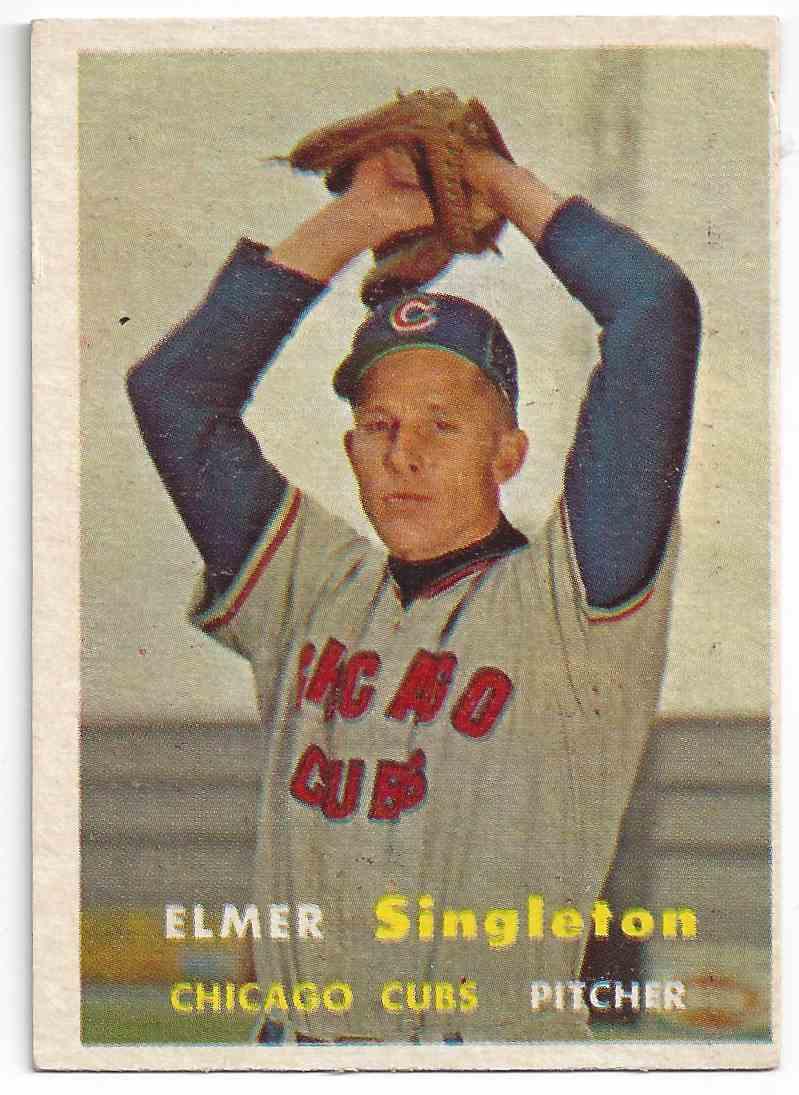 1957 Topps Elmer Singleton #378 card front image