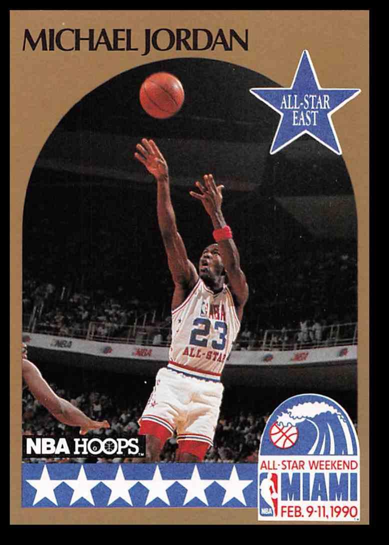 1249354980c 1990-91 Fleer Hoops Michael Jordan  5 card front image