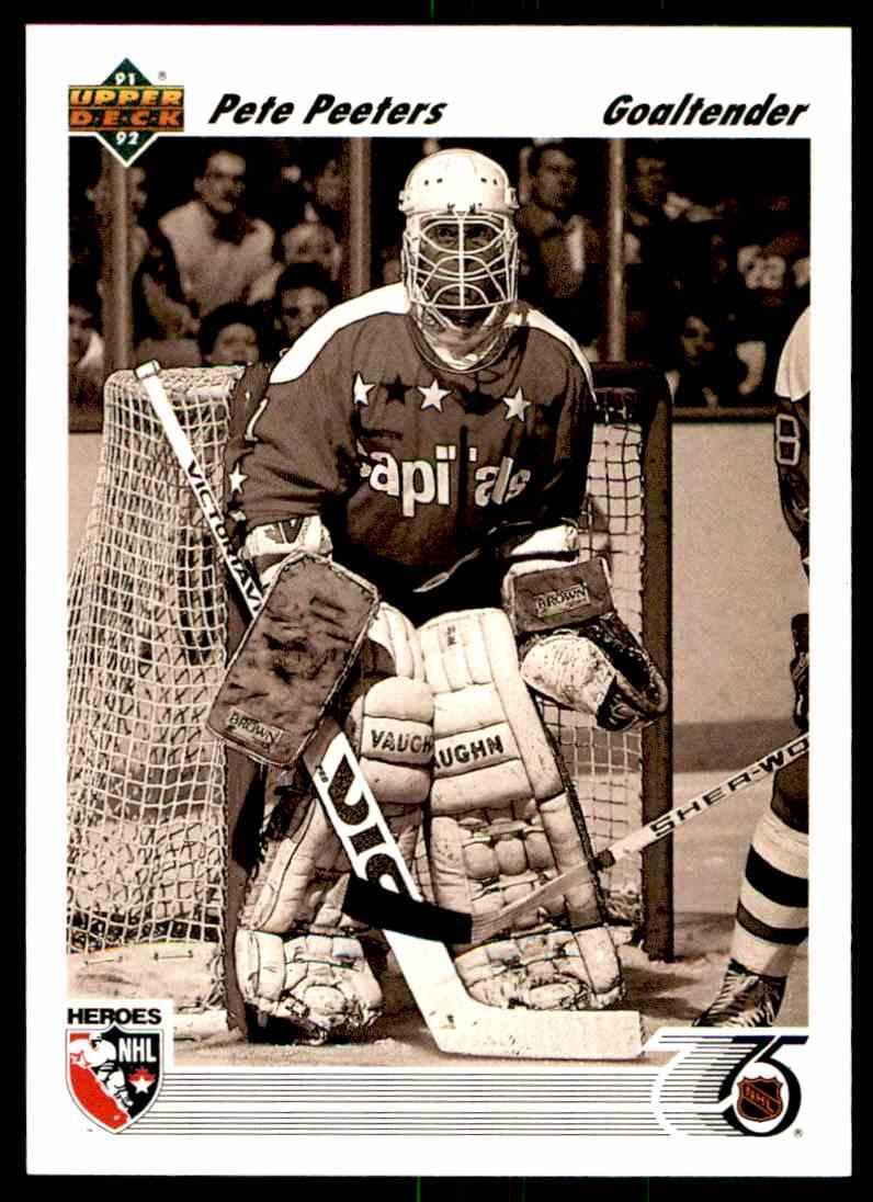 1991-92 Upper Deck Pete Peeters #642 card front image