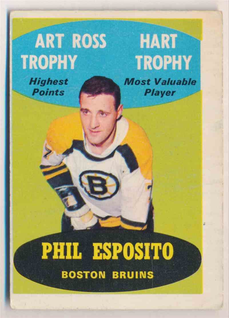 "1969-70 O-Pee-Chee Phil Esposito - Grade ""Very Good"" #214 card front image"