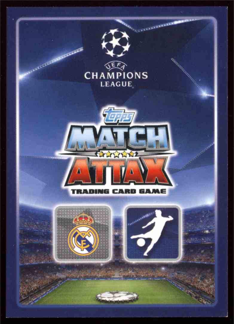 2015 Topps Match Attax Uefa Champions League Limited Editions Gold Cristiano Ronaldo #LE1 card back image