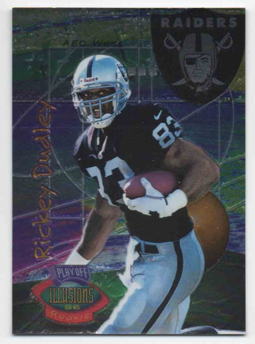 1996 Playoff Illusions Rickey Dudley #24 card front image