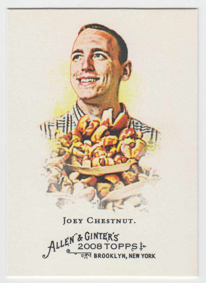 2008 Topps Allen And Ginter Joey Chestnut #109 card front image