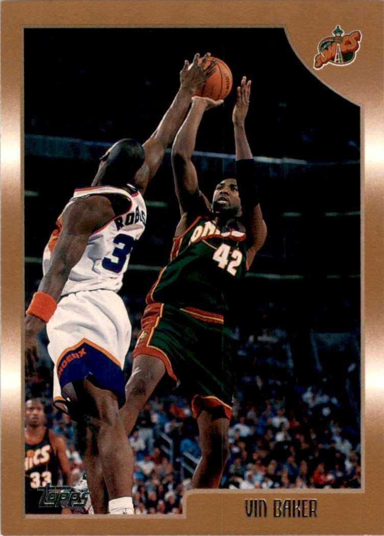 1998-99 Topps Vin Baker #82 card front image