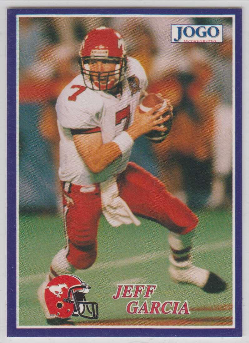 1995 Jogo CFL Jeff Garcia #8 card front image